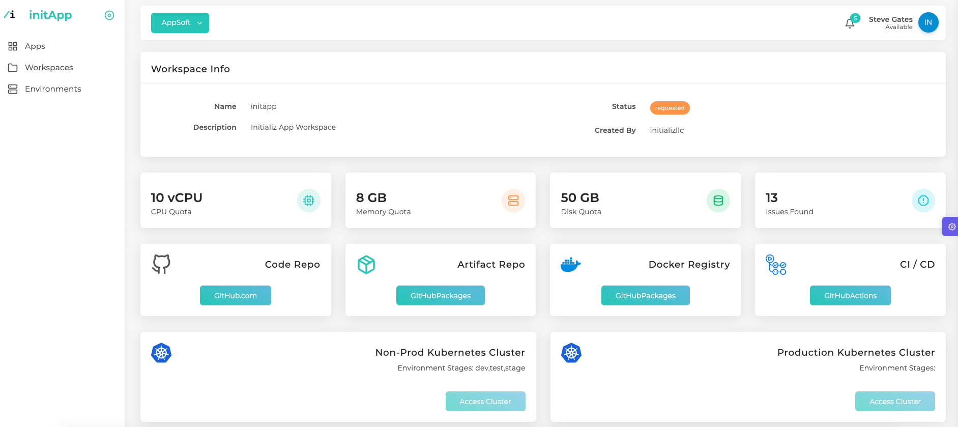 A Continuous Development Platform to Bootstrap Dev, Sec, Ops and Cloud for your Apps